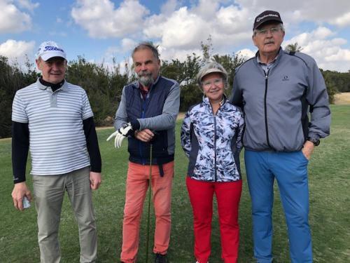 Tapio Pulkkinen (vas.), Hannu Pulkkinen, Kirsti Hakola & Jukka Oinonen.